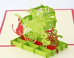 Baby trolley 3D pop up greeting card
