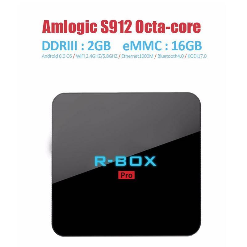RBOX Pro Amlogic S912 Octa Core 2G/16G Android 6.0 4K TV BOX 2.4G+5G WIFI Bluetooth