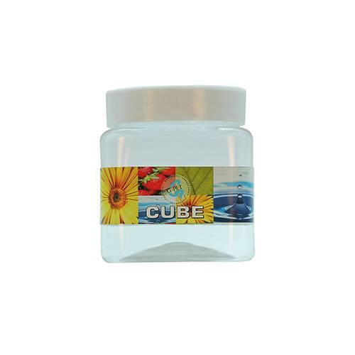 Cube Jar Plastic Cap 250ml