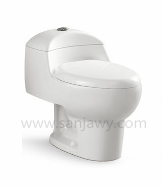 Siphonic Dual Flush One-Piece Toilet in White