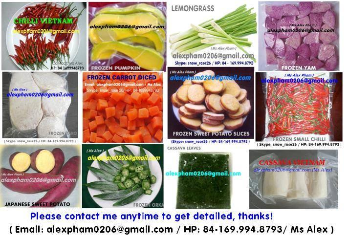 frozen pumpkin/ frozen taro/ frozen okra/ frozen vegetables/ frozen garlic in SKYPE