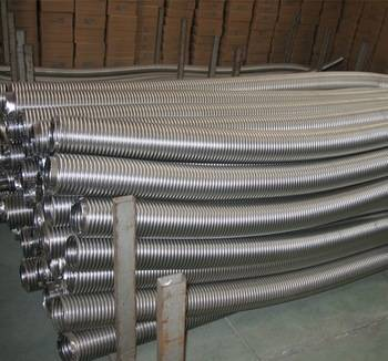 Stainless steel flexible metallic corrugated hose