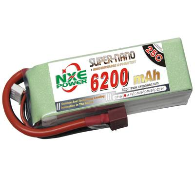NXE6200mAh-25C-11.1V Softcase RC Helicopter Battery