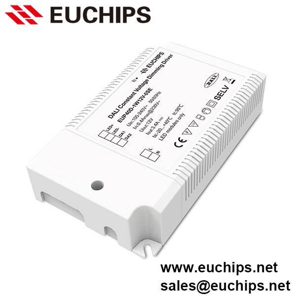 100-240VAC 40W 3.4A 1 channel constant voltage DALI driver EUP40D-1W12V-0SE
