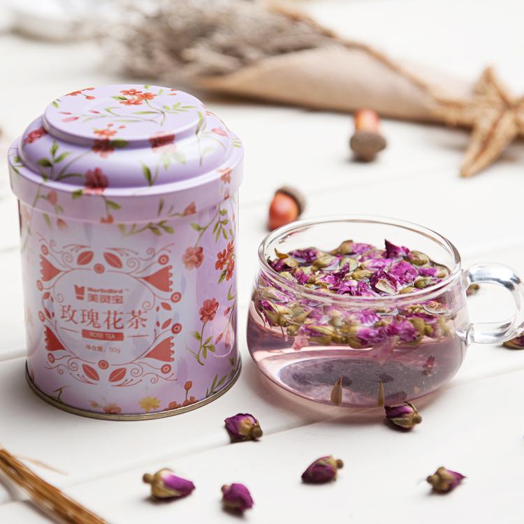 Merlin Bird brand rose bud flower tea for sale