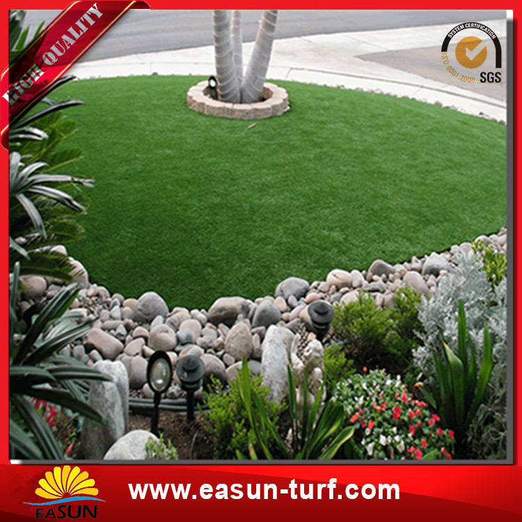 four color synthetic landscaping grass artificial grass for outdoor decorative-Donut