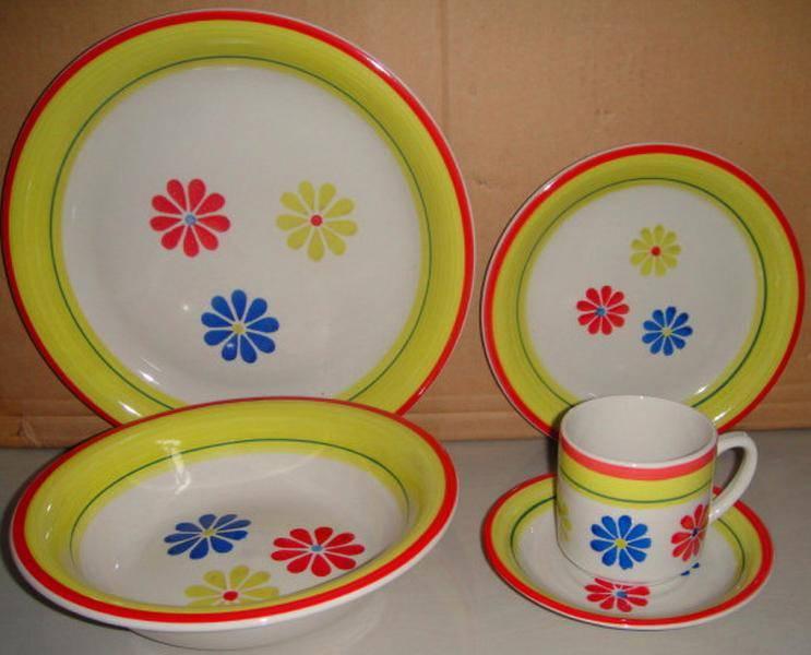 Hand painted 20pcs Stoneware Dinnerware Set