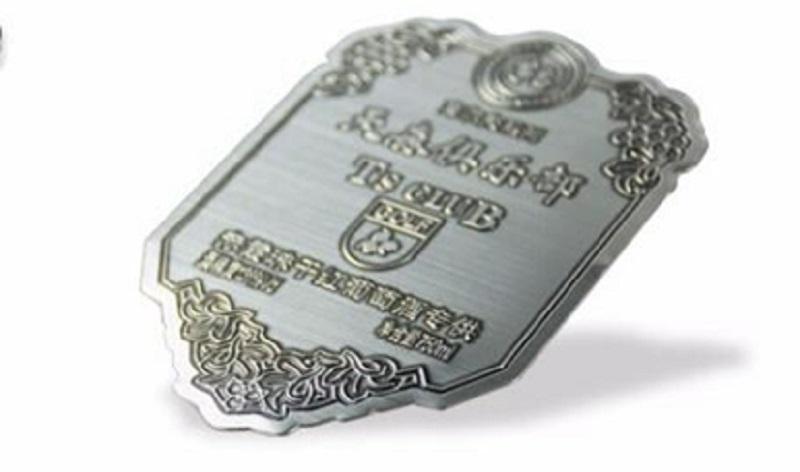 Vodka antique metal label