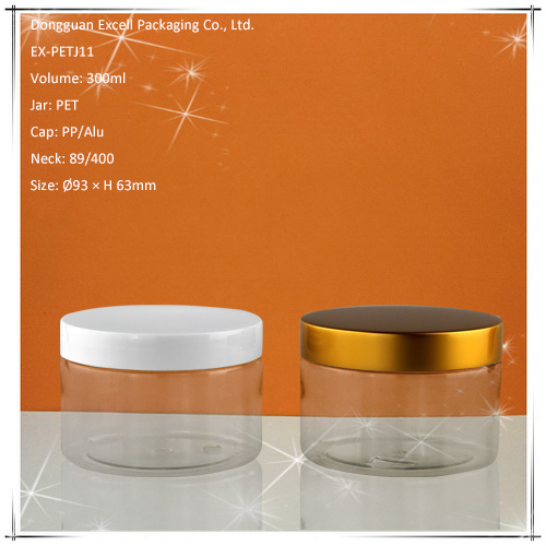 300ml PET Packaging Jar with Various Metal Lid