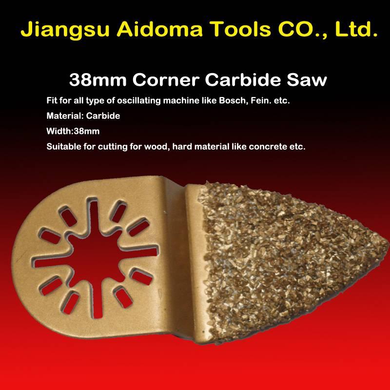 Finger oscillating carbide saw blade fits multimaster bosch