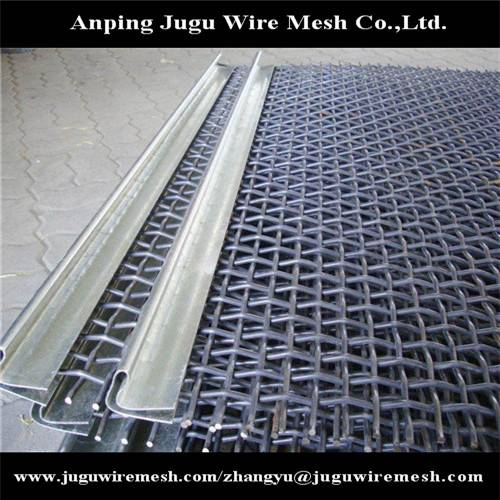 high carbon steel crimped wire mesh mine screen