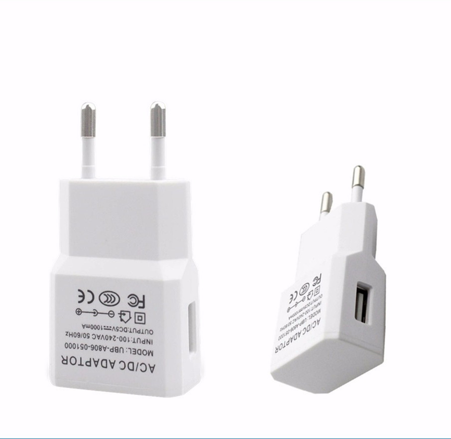 5V 1A USB AC Wall Charger Europe Powe Adapter for smart phone