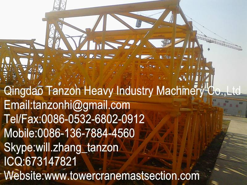 H3/36B Tower Crane Components Mast Section For Building Tower Crane