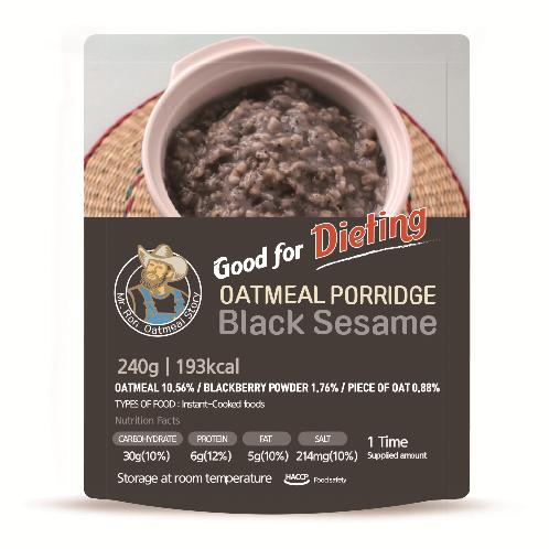 Oatmeal porridge with black sesame for diet (Porridge)