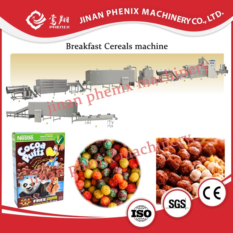 oat flakes breakfast cereals food extruder making machine
