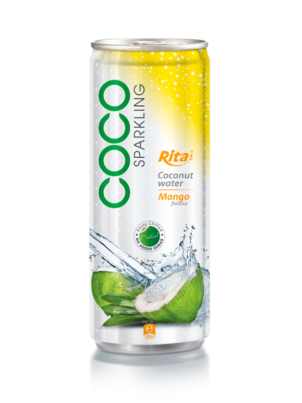 250ml Alu Can Mango Flavor With Sparking Coconut Water