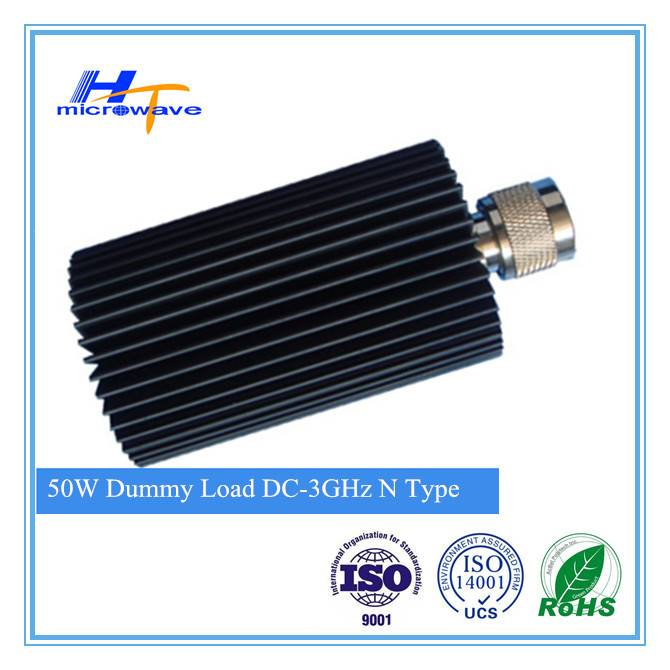Micro fixed coaxial termination Dummy Load 50W DC - 3GHz DIN Male/female connector