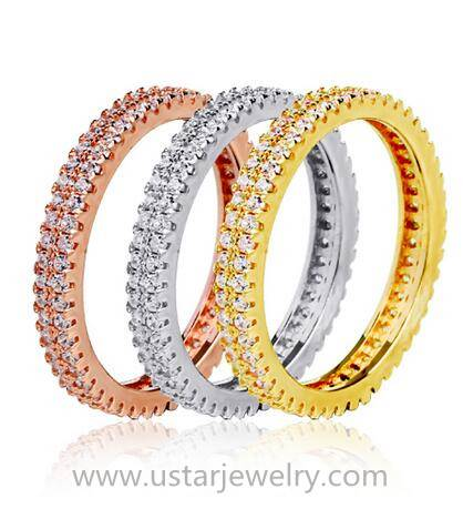 Sterling Silver Wedding Ring, Available in Different Colors, Materials and Designs