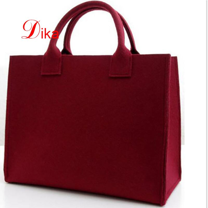 classic model needle felt shopping bag