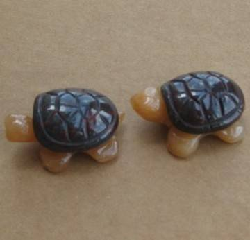 natural gemstone turtles figures in 38mm