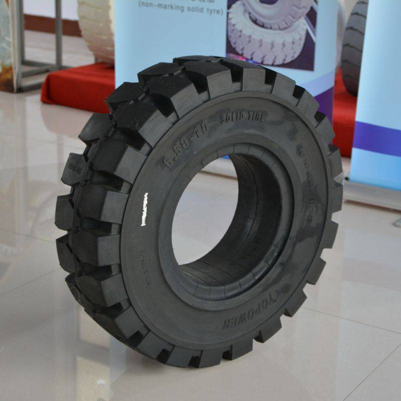 industrial solid tyres 6.50-10/5.00 with side hole