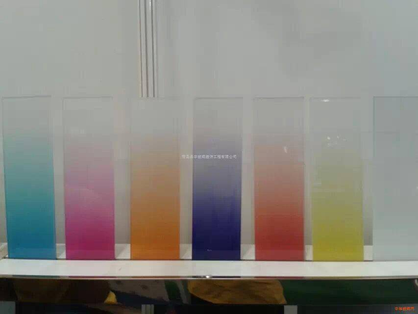 Color Change Glass Decorative Acid Ethched Glass
