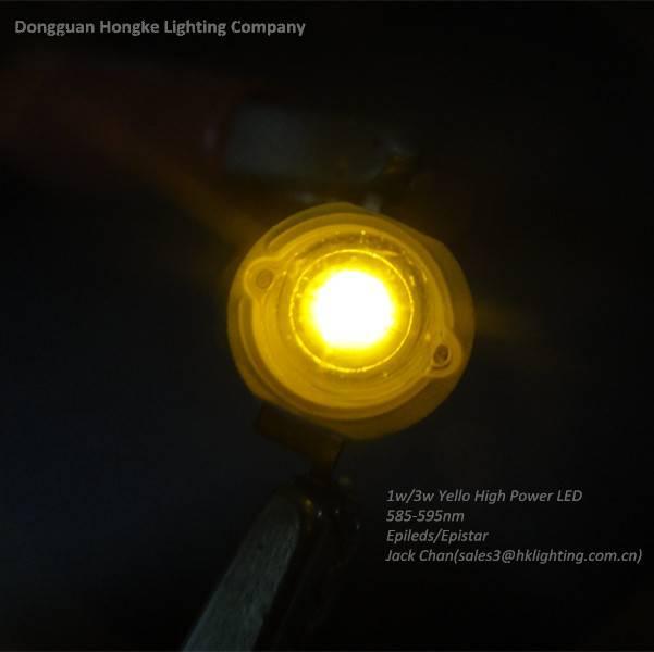 3w Yello 575nm 580nm 585nm High Power LED Diode