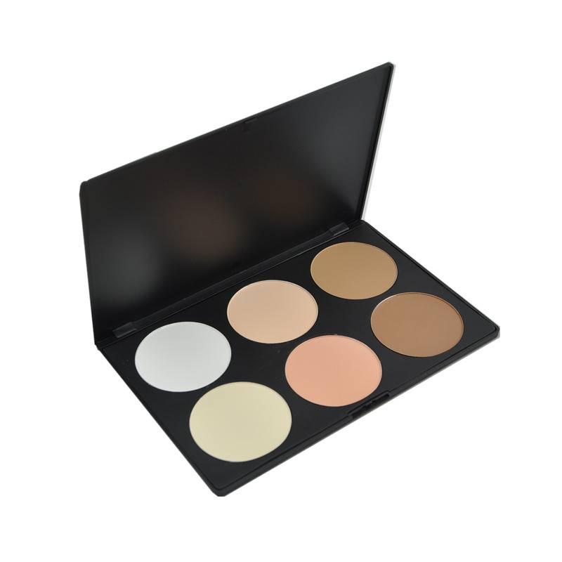 Pro 6 Color Cosmetic Powder Foundation Palette
