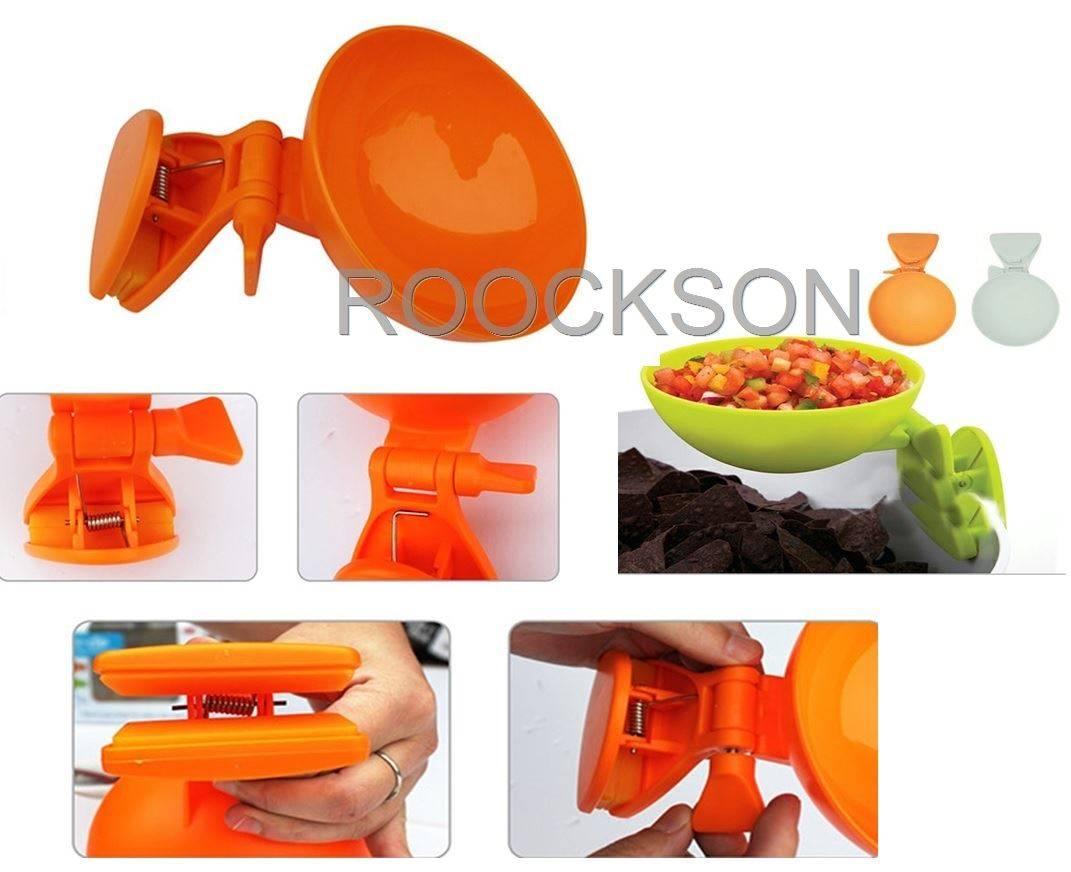 Plastic edge clip bowl
