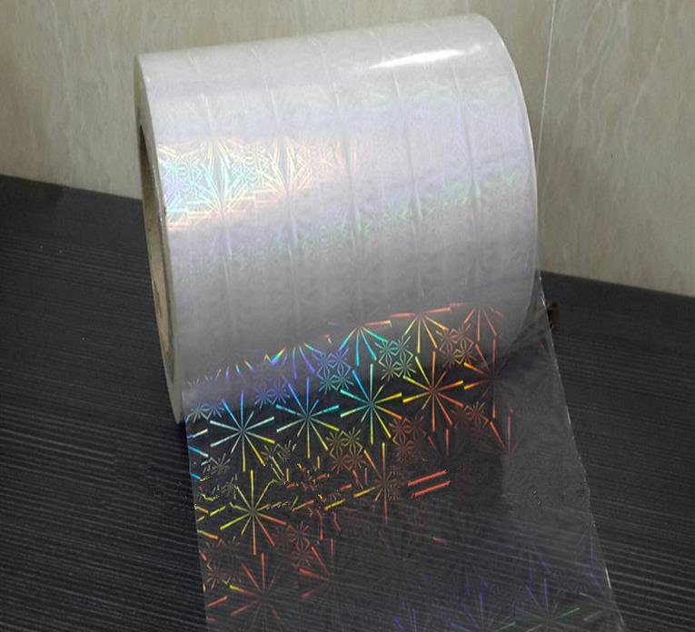 PET transparent holographic film pattern design