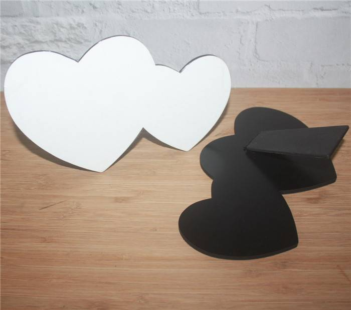 DYE sublimation MDF heart photo panel with easel