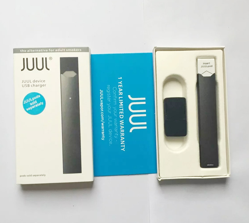 Black JUUL DEVICE Kits +usb CHARGER STARTER KIT - Shenzhen
