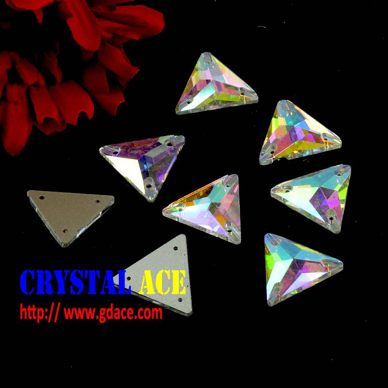 Triangle Sew on Crystal rhinestones, sew on rhinestone , sew on flat back strass for dress
