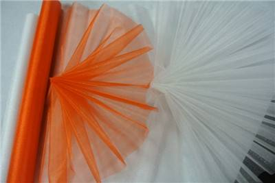 nylon sheer organza fabric for wedding decoration