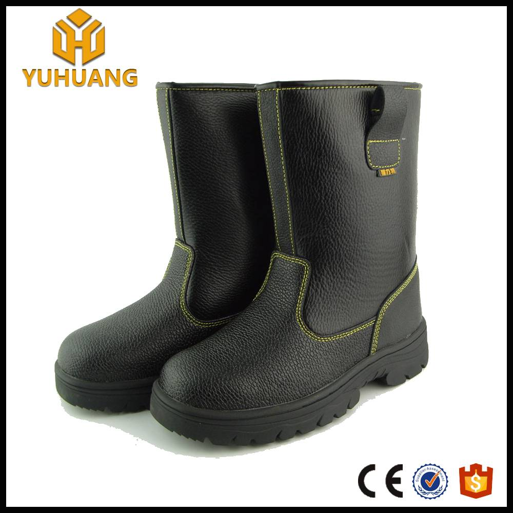 high quality buffalo leather 10inch high knee safety boots