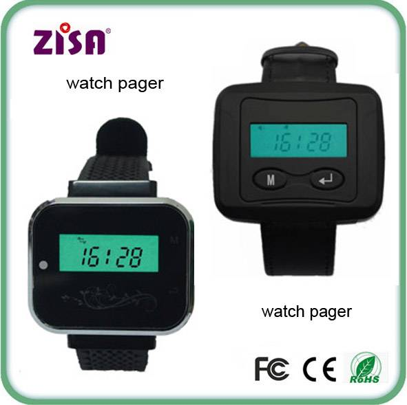 wireless waiter wrist watch pager , guest paging system