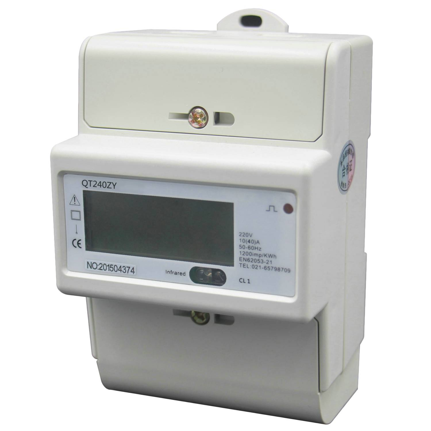 Din Rail Single Phase Power Meter Energy Meter KWh Meter