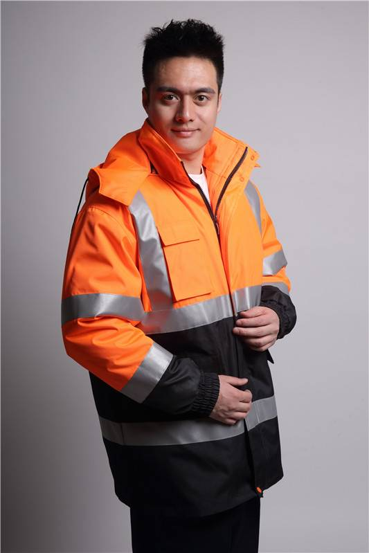 new design winter reflective work coat