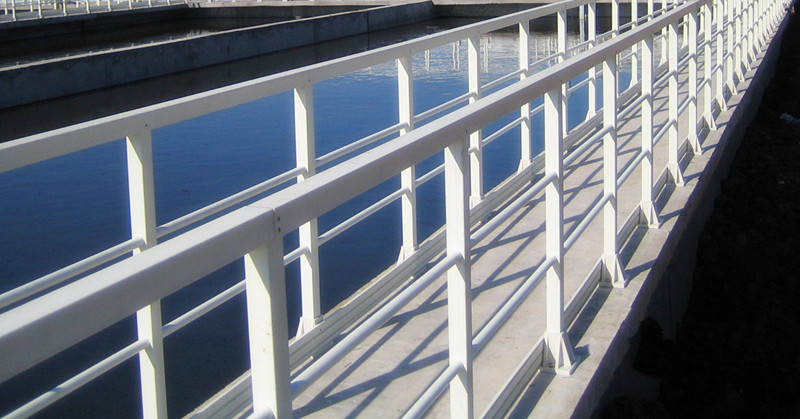 Fiberglass FRP Handrail System Using Square Tube
