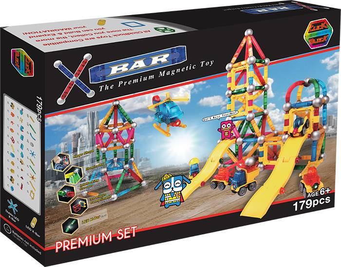 X-BAR PREMIUM Educational magnetic block toy