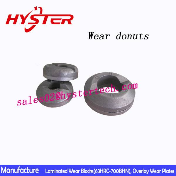 63HRC White iron shaped wear donuts wear button china professional manufacturer