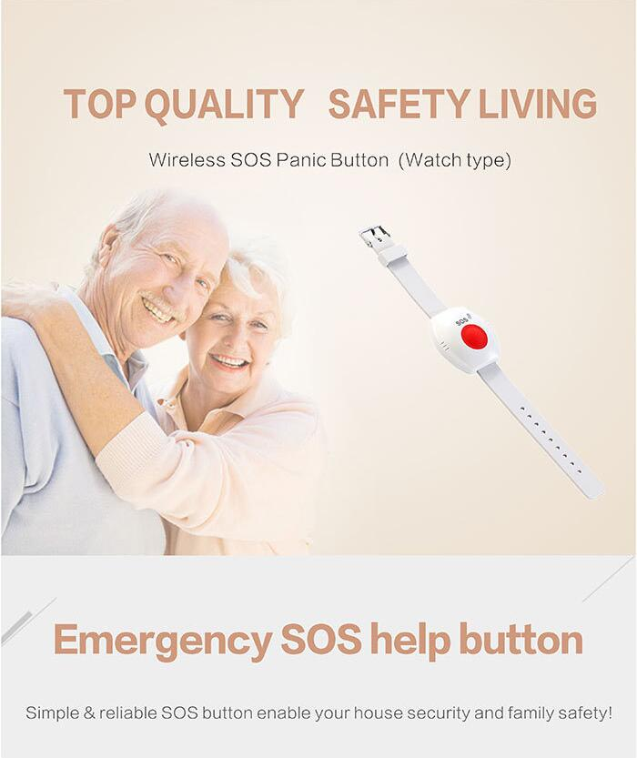 Home Security System Gsm personal Panic Button For Elderly