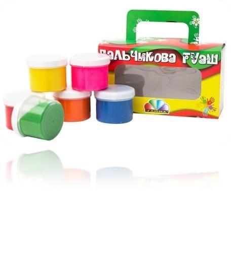 Gouache Finger Paint Set of 6 colors