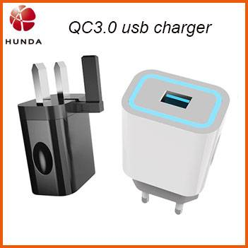 [Qualcomm QC 3.0] 18w Europe Fast Phone QC3.0 USB Wall Charger with Single USB