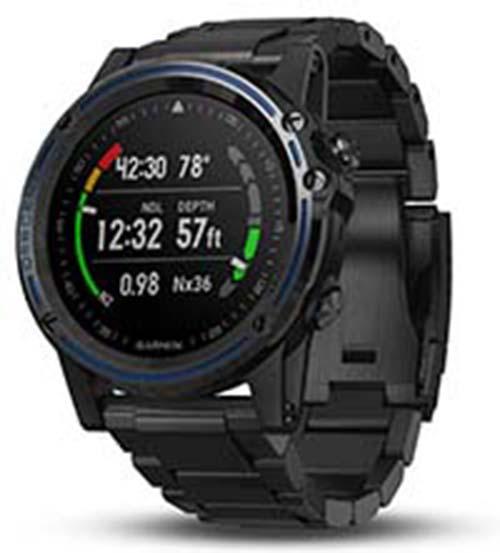 Garmin Descent Mk1 GPS MAP Diving Titanium Black Band Dive Watch