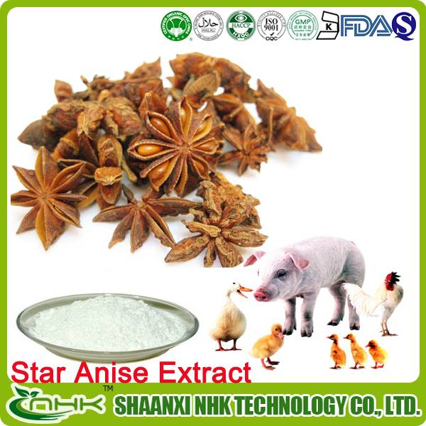 2015 high quality pure and natural Shikimic Acid Star Anise Extract