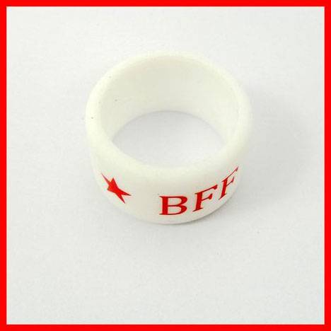 Exsiting mold 3D soft pvc finger ring for Friendship