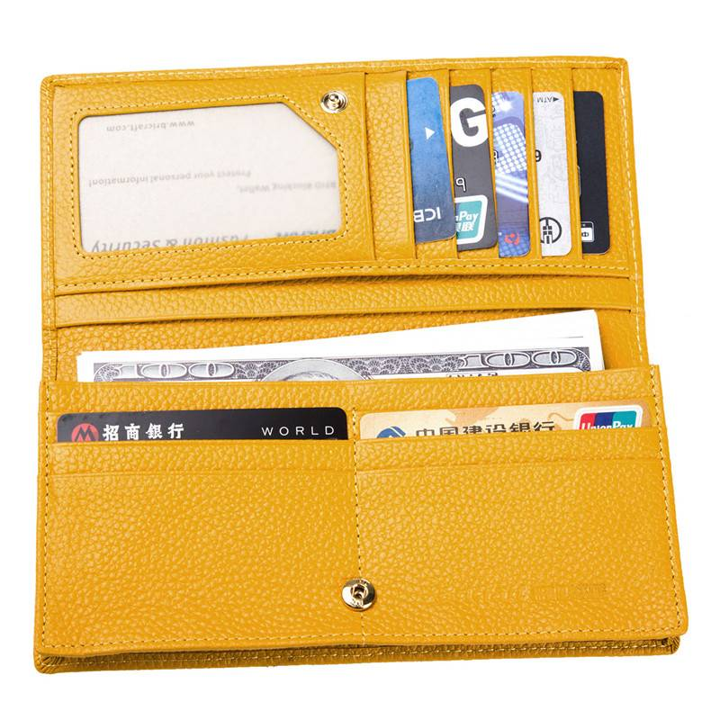 Lady RFID Wallet for Credit Card Holder Ladies clutch purse for women