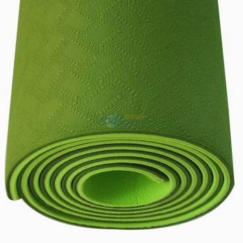 Hot sale Eco Tpe Yoga Mat- Best for Moderate to Intense Exercise, 6mm Extra Thick Cushion , Antimicr