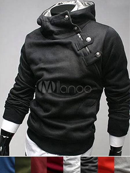 Mens Coat Buttons Cotton Men's Desmond Hoodie(9 Colors)